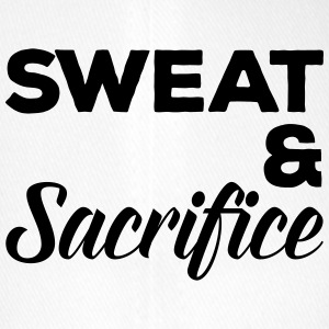 Sweat & Sacrifice Gym Quote Caps & Hats - Flexfit Baseball Cap