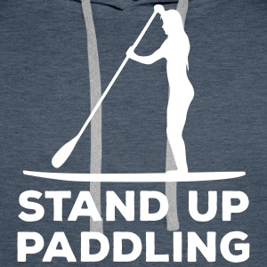 Standing paddler SUP Paddle Sports water sports summer Hoodies & Sweatshirts - Men's Premium Hoodie