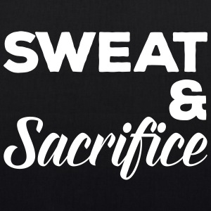 Sweat & Sacrifice Gym Quote Borse & Zaini - Borsa ecologica in tessuto