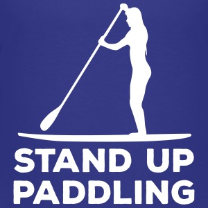 Standing paddler SUP Paddle Sports water sports summer Shirts - Teenage Premium T-Shirt