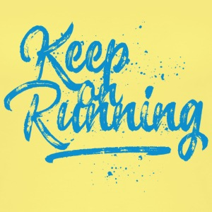 Keep on running - blau Tops - Frauen Bio Tank Top