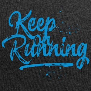 Keep on running - blau Caps & Mützen - Jersey-Beanie
