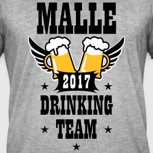 06 Malle 2017 Drinking Team Beer Bier Wings T-Shir - Männer Vintage T-Shirt