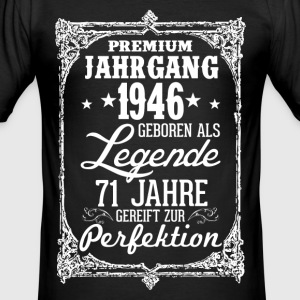 71 - 1946 - Legende - Perfektion - 2017 - DE T-Shirts - Männer Slim Fit T-Shirt