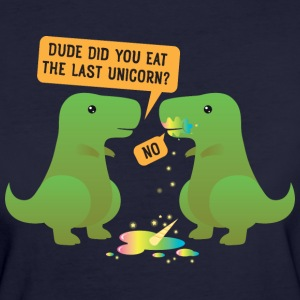Funny Dino Did you eat the last Unicorn? T-Shirts - Frauen Bio-T-Shirt