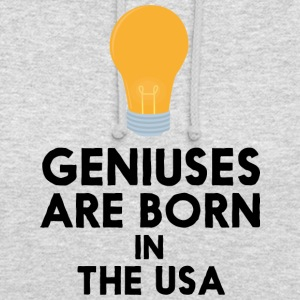 Geniuses are born in THE USA S3kgd Hoodies & Sweatshirts - Unisex Hoodie