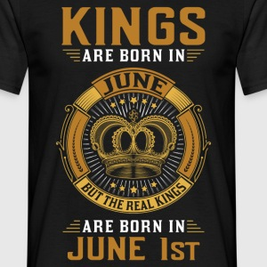 Kings Are Born In June 1st T-Shirts - Men's T-Shirt