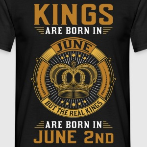 Kings Are Born In June 2nd T-Shirts - Men's T-Shirt