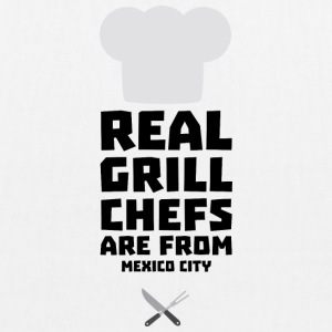 Real Grill Chefs are from Mexico City 6ry Bags & Backpacks - EarthPositive Tote Bag