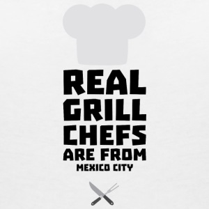 Real Grill Chefs are from Mexico City 6ry T-Shirts - Women's V-Neck T-Shirt