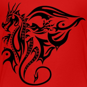 Beautiful, big tattoo dragon with wings. - Kids' Premium T-Shirt