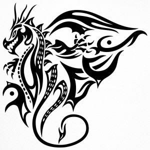 Beautiful, big tattoo dragon with wings. - Trucker Cap