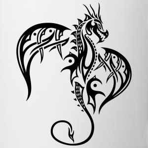 Beautiful, big tattoo dragon with wings. - Mug
