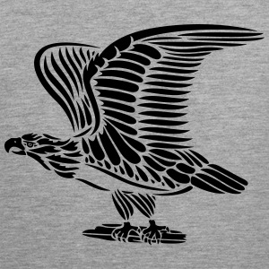 Tattoo eagle with wings. - Men's Premium Tank Top