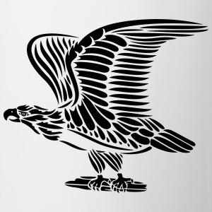 Tattoo eagle with wings. - Mug
