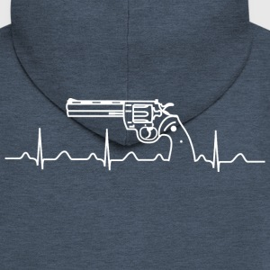Colt Python Anaconda Heartbeat wh Hoodies & Sweatshirts - Men's Premium Hooded Jacket
