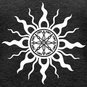 Sun, symbol of Midsummer and summer  - Women's Premium Tank Top