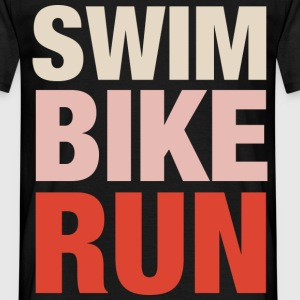 Swim Bike Run T-Shirts - Männer T-Shirt