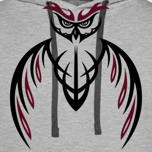 Grote Uil Tribal & tattoo stijl. Sweaters - Mannen Premium hoodie