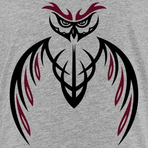 Grote Uil Tribal & tattoo stijl. Shirts - Teenager Premium T-shirt
