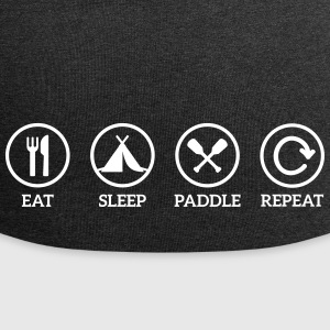 eat sleep paddle repeat Paddeln Kanu Kajak Spruch Caps & Mützen - Jersey-Beanie
