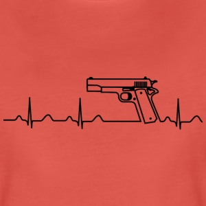 T-Shirt, Colt Pistole Government, Heartbeat Design - Frauen Premium T-Shirt