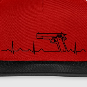 Kappe, Colt Pistole Government, Heartbeat Design - Snapback Cap