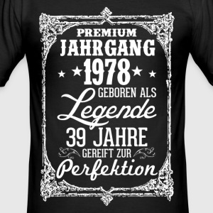 39-1978 legend - perfektion - 2017 - DE T-shirts - Herre Slim Fit T-Shirt