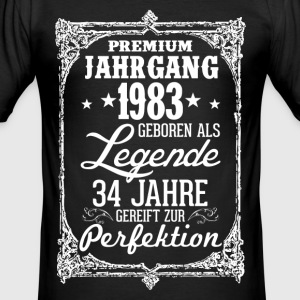 34 - 1983- Legende - Perfektion - 2017 - DE T-Shirts - Männer Slim Fit T-Shirt