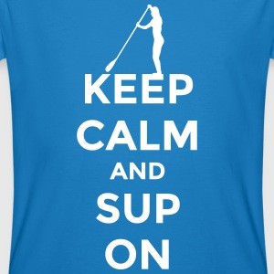 keep calm and SUP on Stand Up Paddling Stehpaddeln T-Shirts - Männer Bio-T-Shirt
