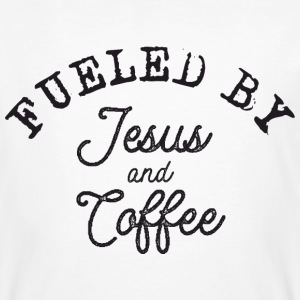 Fueled by Jesus and Coffee T-Shirts - Männer Bio-T-Shirt