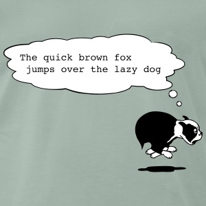 The quick brown fox - Männer Premium T-Shirt