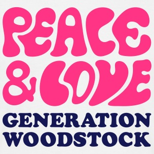 Peace  love woodstock generation  T-shirts - Herre-T-shirt