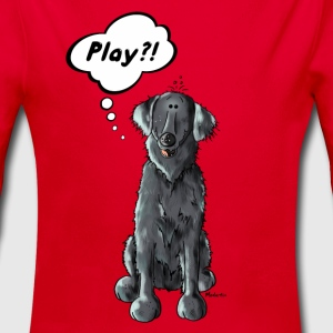 Flat Coated Retriever Play  Baby Bodys - Baby Bio-Langarm-Body