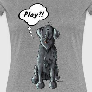 Flat Coated Retriever Play  T-Shirts - Frauen Premium T-Shirt