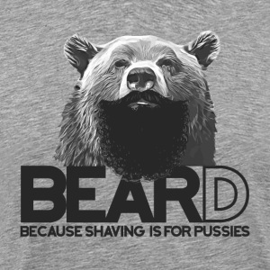 Bear and beard - Ours avec barbe Tee shirts - T-shirt Premium Homme