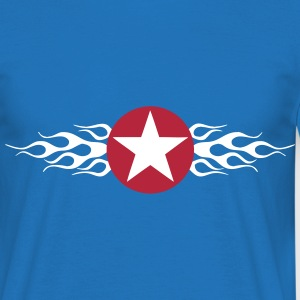 USA Star Flaming Tee shirts - T-shirt Homme