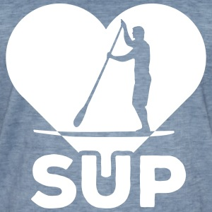Standing paddlers SUP Paddle Sports water sports summer T-Shirts - Men's Vintage T-Shirt