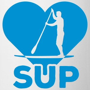 Standing paddlers SUP Paddle Sports water sports summer Mugs & Drinkware - Mug