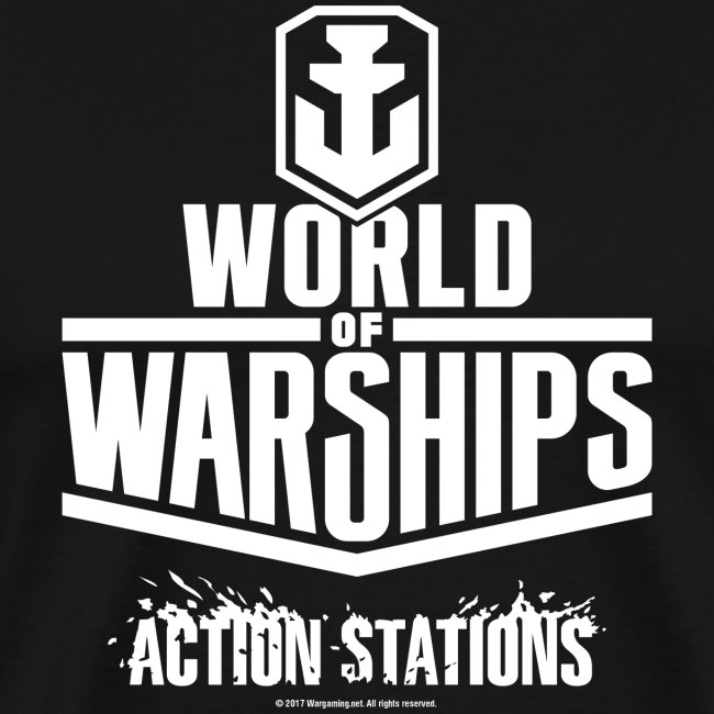 World of Warships White Logo Collection - Men's T-Shirt