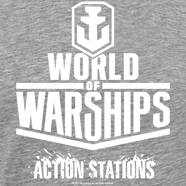 World of Warships White Logo Collection - Men's T-Shirt