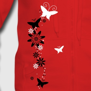 Red flower Coats & Jackets - Women's Premium Hooded Jacket