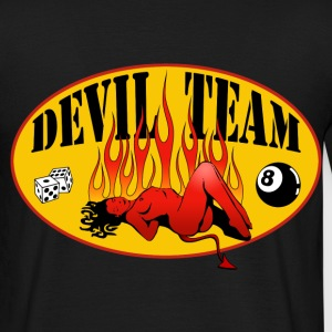 Noir devil team T-shirts - T-shirt Homme