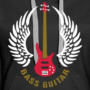 bass_guitar Hoodies & Sweatshirts - Women's Premium Hoodie