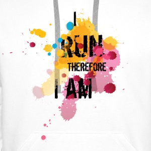 For Runners: I Run Therefore I am Sweatshirts - Herre Premium hættetrøje