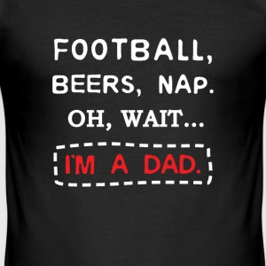 Fathers Day 2017 Football Beers and Nap Dad T-skjorter - Slim Fit T-skjorte for menn