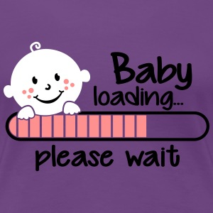 Baby loading.... please wait T-Shirts - Frauen Premium T-Shirt