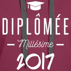diplomée millesime 2017 Sweat-shirts - Sweat-shirt à capuche Premium pour femmes
