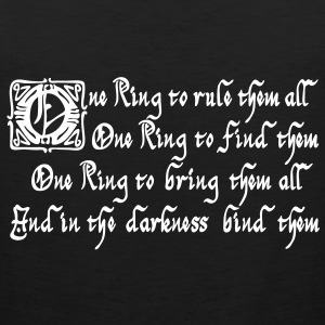 One Ring to rule them all Sportkleding - Mannen Premium tank top