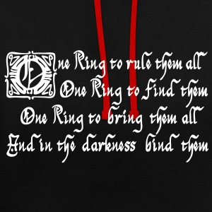One Ring to rule them all Sweaters - Contrast hoodie